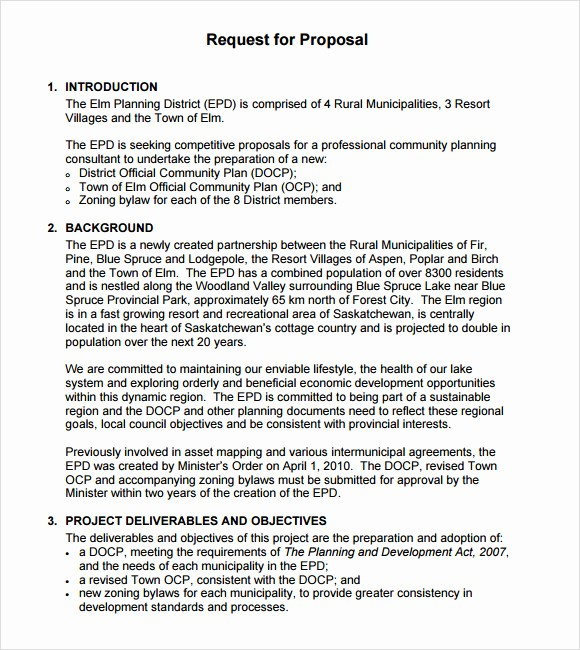 Rfp Response Template Microsoft Word Inspirational 9 Rfp Templates for Free Download