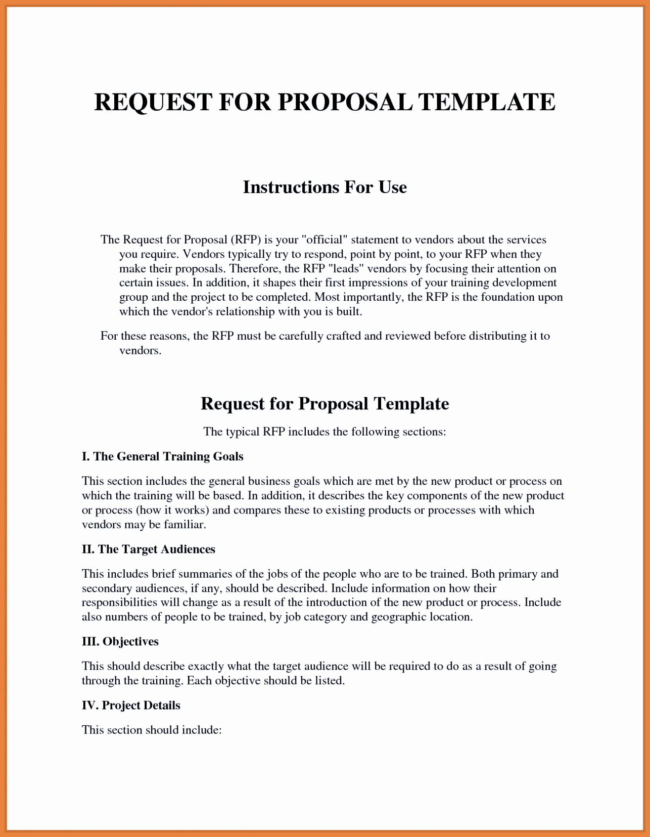 Rfp Response Template Microsoft Word Luxury Sample Rfp Response Template Information Technology Example