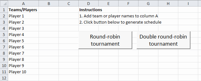Round Robin tournament Template Excel Best Of 5 Team Round Robin Template Image Collections Template