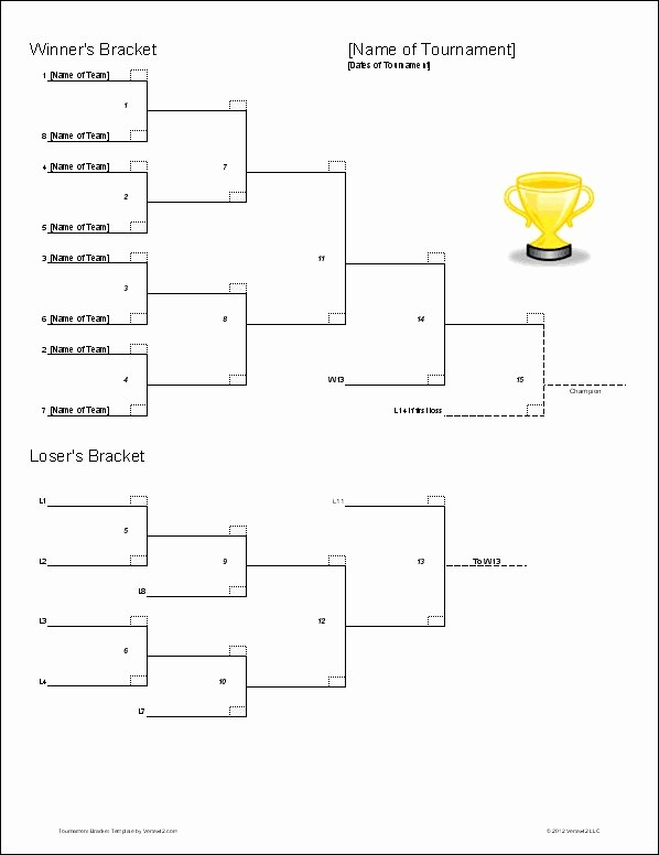 Round Robin tournament Template Excel Fresh Download the Double Elimination Bracket Template From