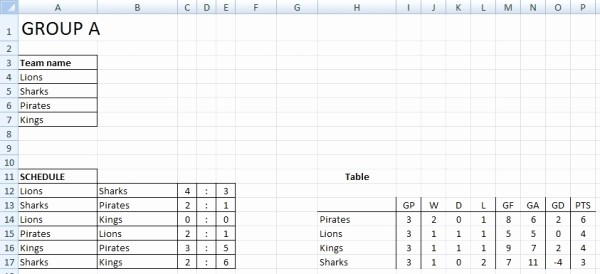 Round Robin tournament Template Excel Fresh Sport tournament Template