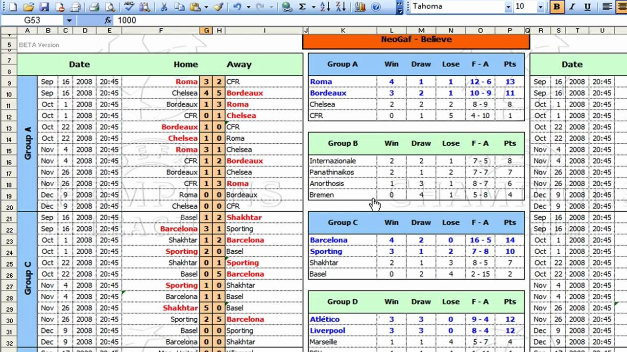 Round Robin tournament Template Excel Inspirational League tournament Template