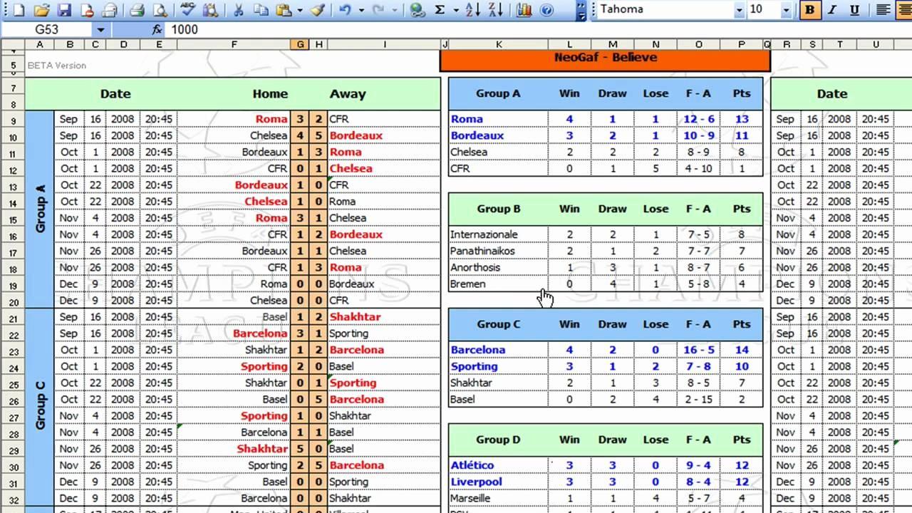Round Robin tournament Template Excel Inspirational League tournament Template