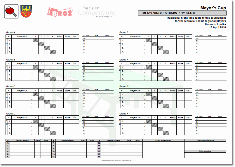 Round Robin tournament Template Excel Luxury Precision Petitions Printable Templates Precision
