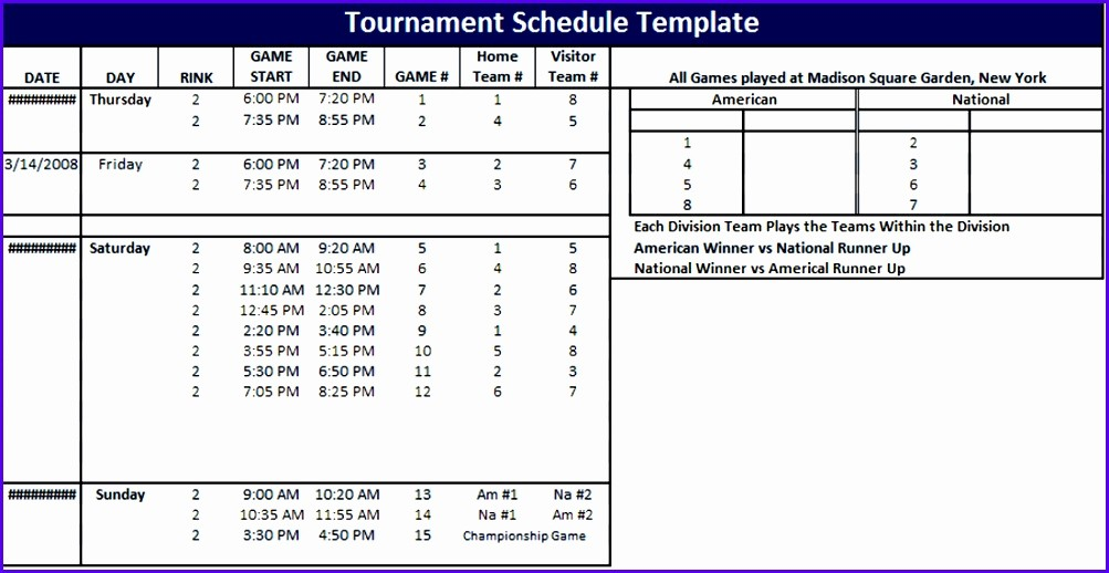 Round Robin tournament Template Excel New 5 tournament Template Excel Exceltemplates Exceltemplates