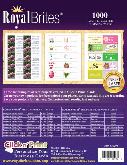 Royal Brites Business Card Template Beautiful Royal Brites Business Cards Matte Template Bamboosoftware