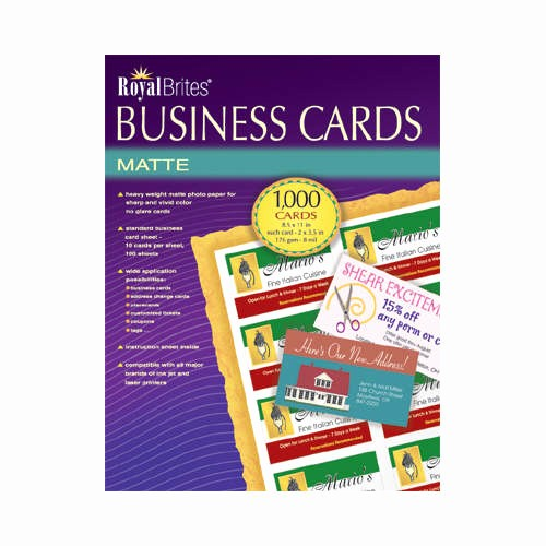 Royal Brites Business Card Template Lovely Royal Brites Business Cards Inkjet White 1 000 Cards