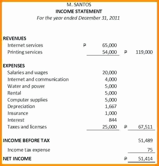 S Corp Balance Sheet Template Inspirational 15 Balance Sheet Vs In E Statement