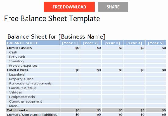 S Corp Balance Sheet Template Lovely 8 Websites to Download Free Balance Sheet Template