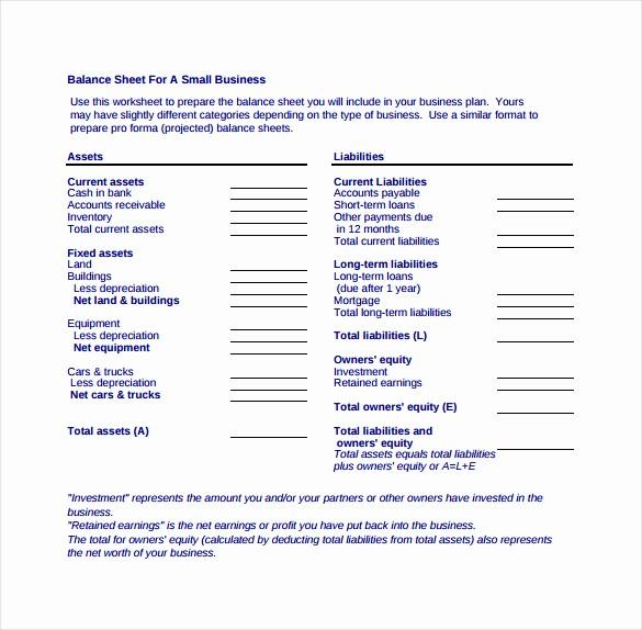 S Corp Balance Sheet Template Lovely Balance Sheet Templates 18 Free Word Excel Pdf