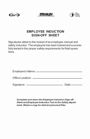 Safety Meeting Sign Off Sheet Inspirational Appendix E Safety Sign Off forms Tailgate Layne Safety