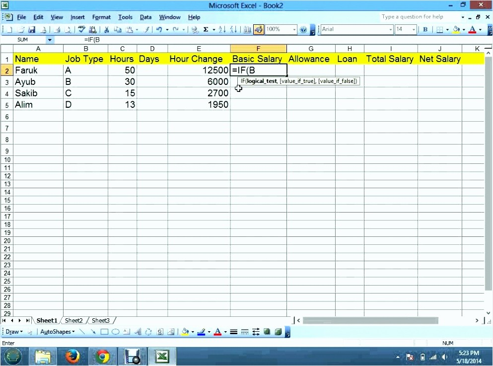 Salary formula In Excel Sheet Best Of 7 format Excel Salary Sheet Calculation Tipstemplatess