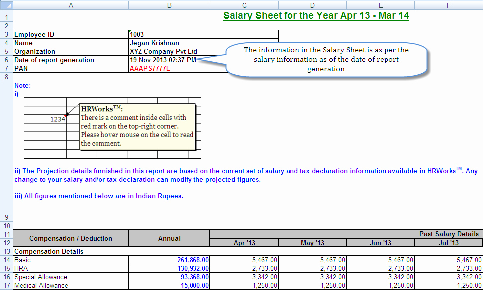 Salary formula In Excel Sheet Fresh Salary Sheet Hrworks User Guide Content Management System