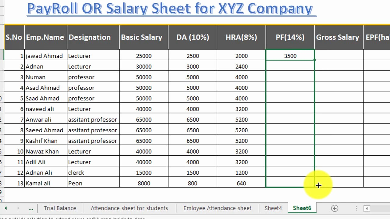 Salary formula In Excel Sheet Inspirational How to Make Salary Sheet Payroll or Payslip In Excel