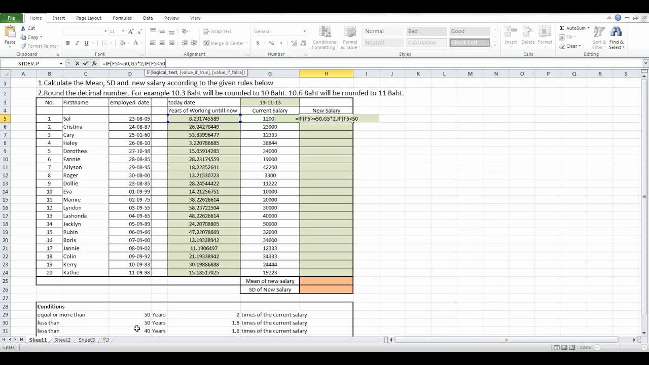 Salary formula In Excel Sheet Lovely How to Calculate New Salary by Using Microsoft Excel