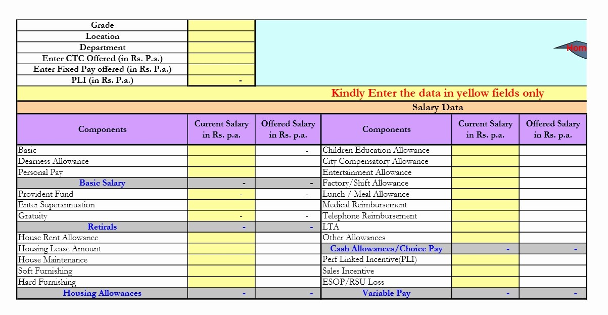 Salary formula In Excel Sheet New How to Calculate Basic Salary formula In Excel Excel