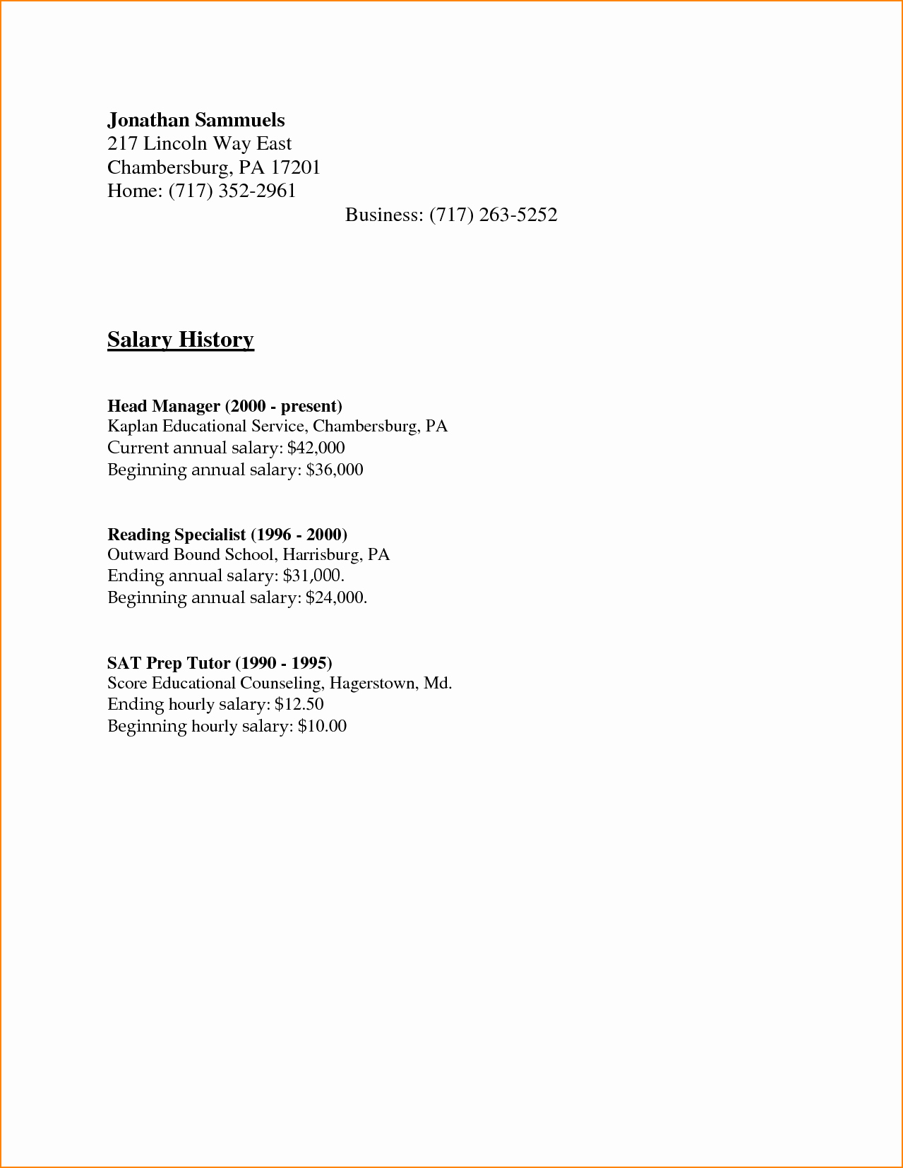 Salary History In Cover Letter Lovely 5 Sample Cover Letter with Salary History