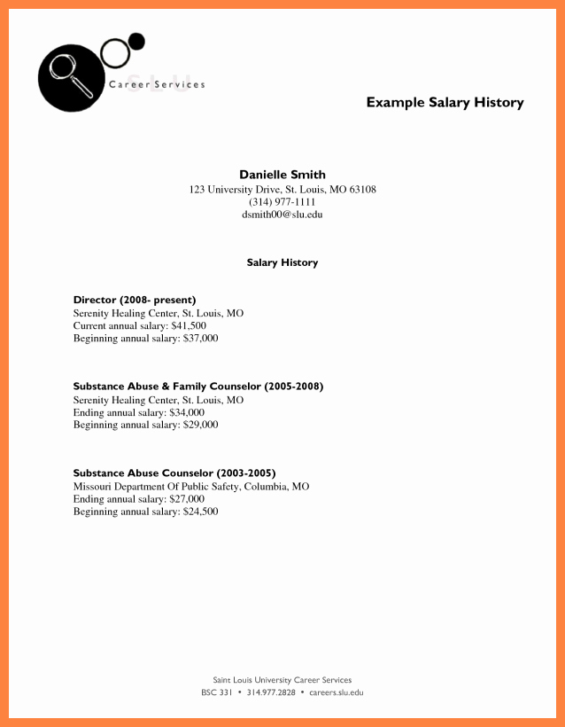 Salary History In Cover Letter Unique 5 Cover Letter with Salary History Example