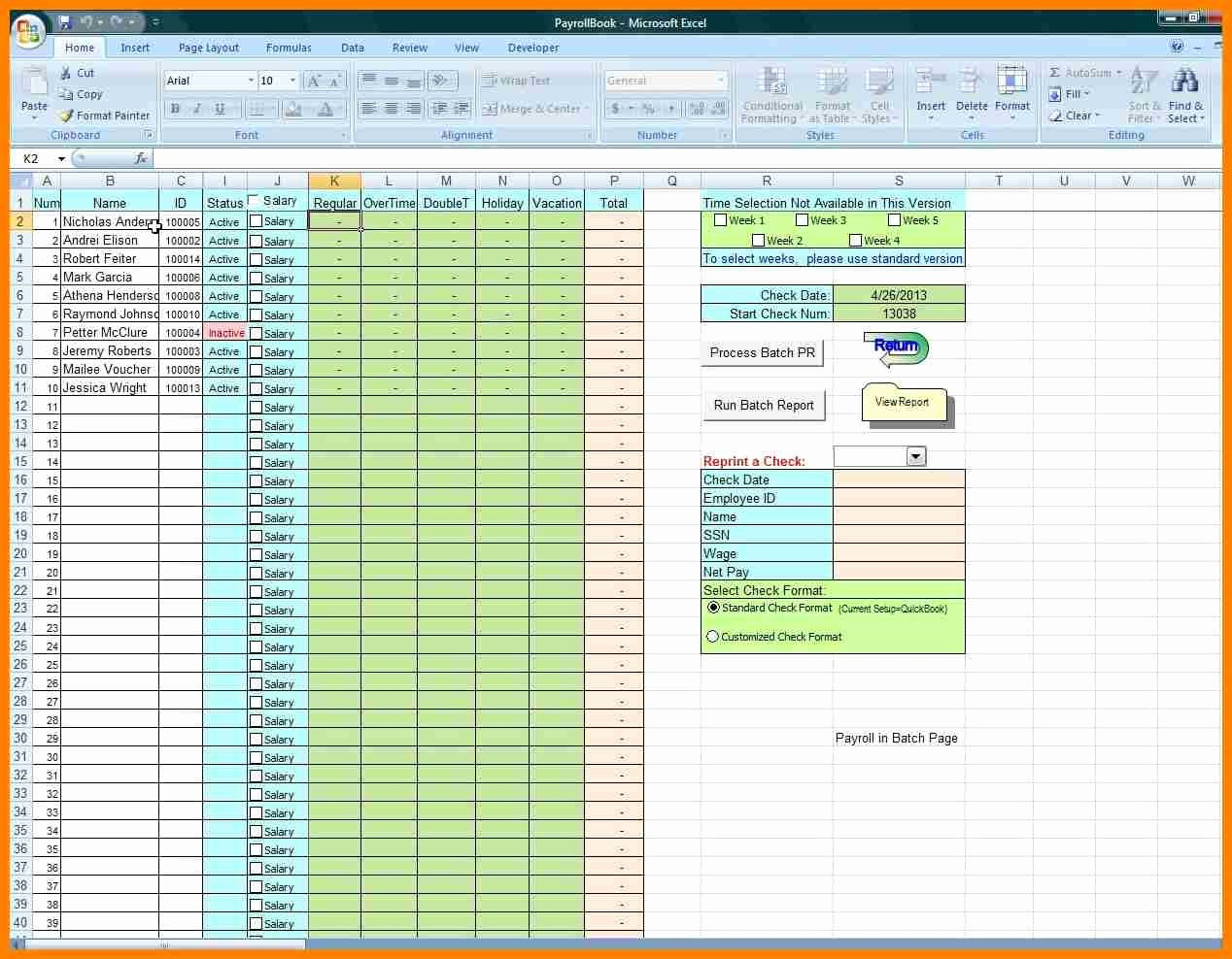 Salary Payroll Xls Excel Sheet Awesome 7 Payroll Excel Spreadsheet