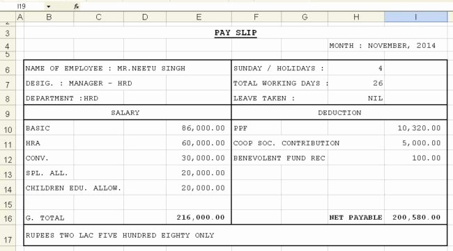 Salary Payroll Xls Excel Sheet Awesome Get Salary Slip format In Excel Microsoft Excel Templates