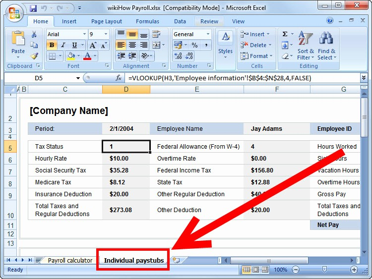 Salary Payroll Xls Excel Sheet Awesome How to Prepare Payroll In Excel Wikihow