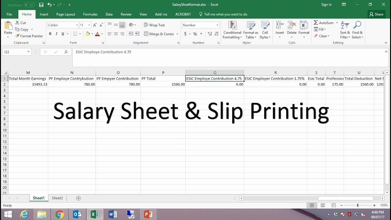 Salary Payroll Xls Excel Sheet Fresh How to Create Payroll Salary Sheet In Excel and Payslip