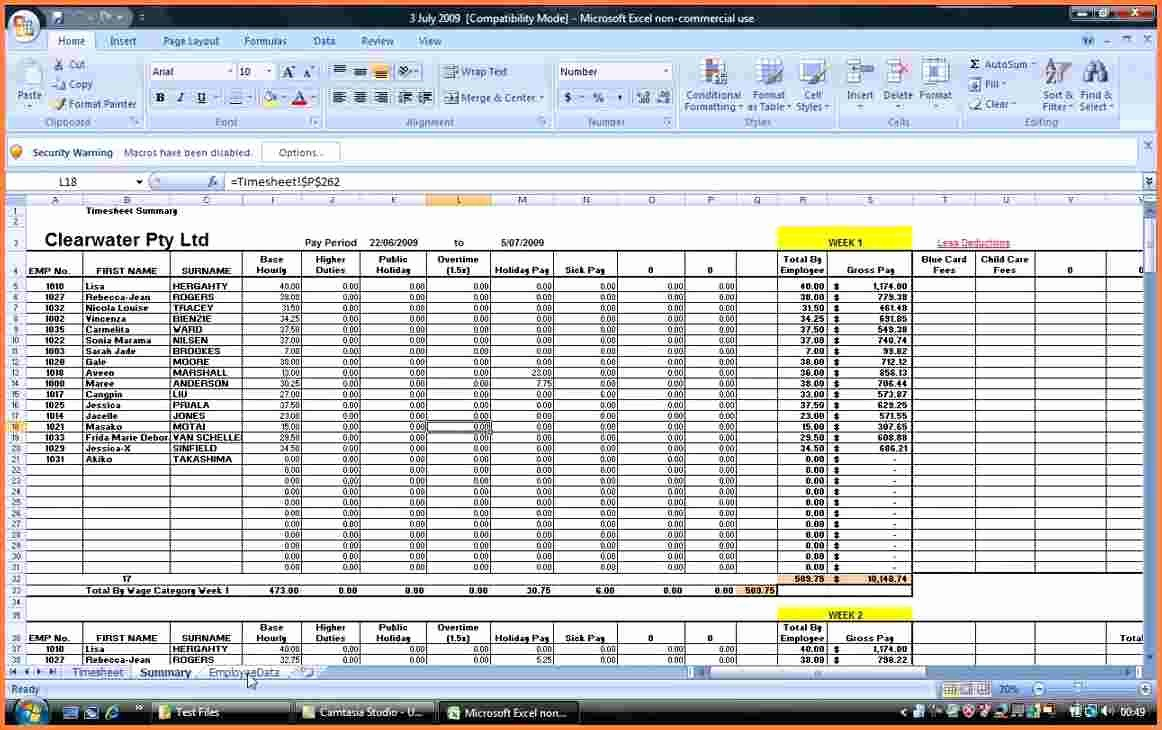 Salary Payroll Xls Excel Sheet Lovely 7 Payroll Spreadsheet Template Excel