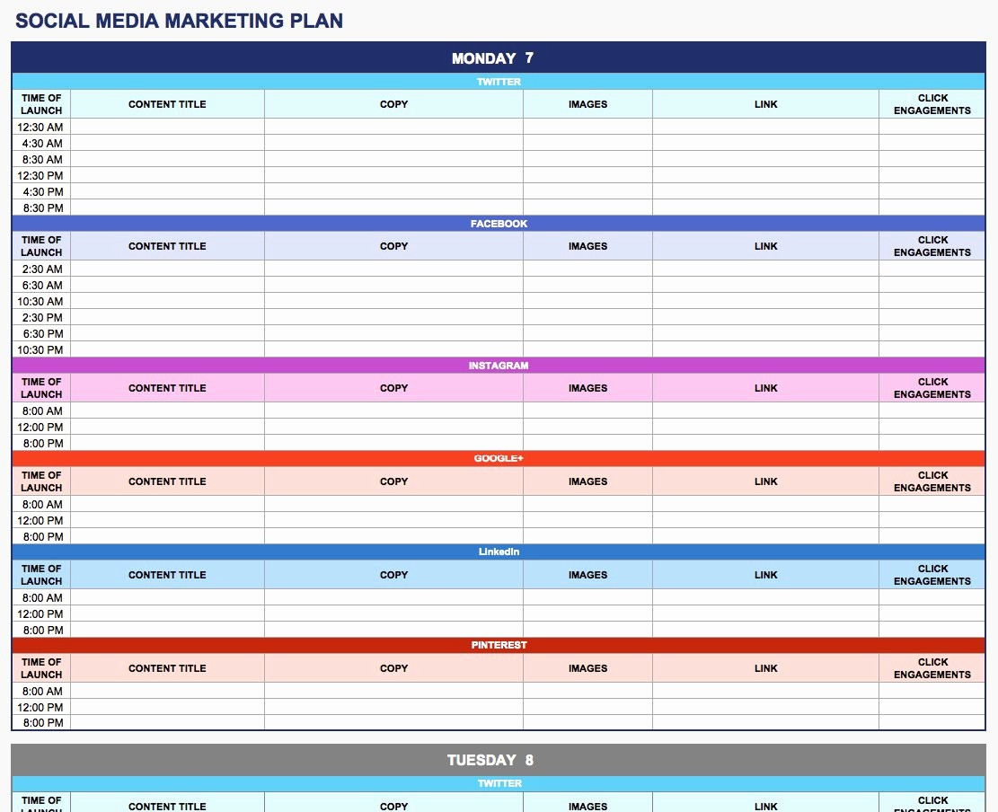 Sales and Marketing Budget Template Inspirational Free Marketing Plan Templates for Excel Smartsheet