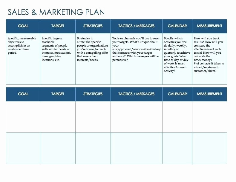 Sales and Marketing Budget Template Luxury Sales and Marketing Plan Template