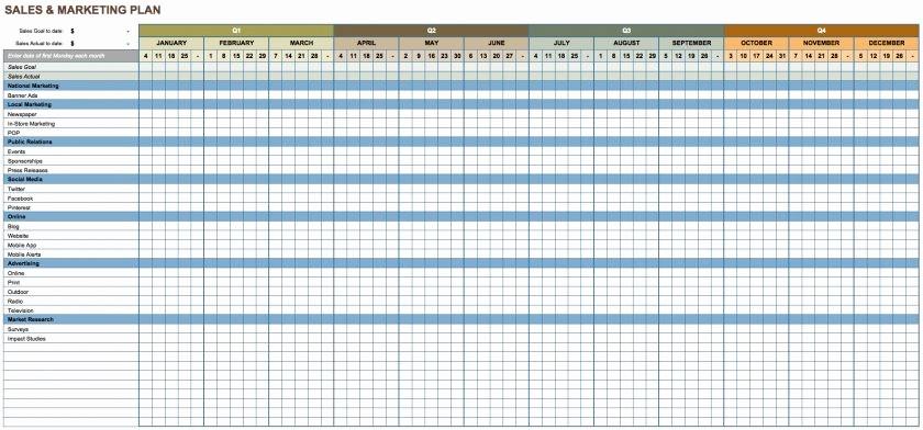 Sales and Marketing Budget Template Unique Sheet Capsim Excel Marketingt Template