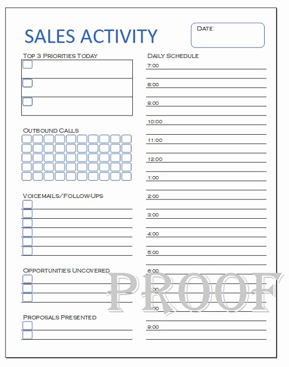 Sales Call Sheet Template Free Awesome Sales Activity Tracker Daily Planner Cold Call Tracker