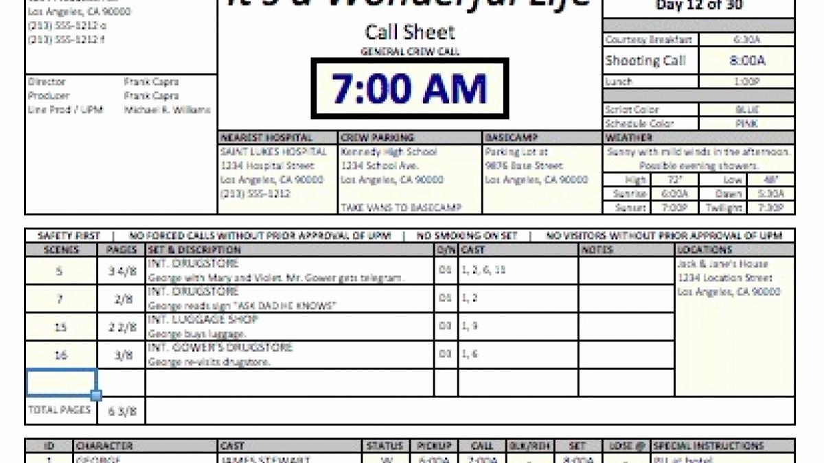 Sales Call Sheet Template Free Elegant Casper Spreadsheet Template Makes Call Sheets and