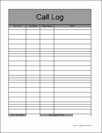 Sales Call Sheet Template Free Inspirational 4 Sales Call Log Excel Templates Excel Xlts