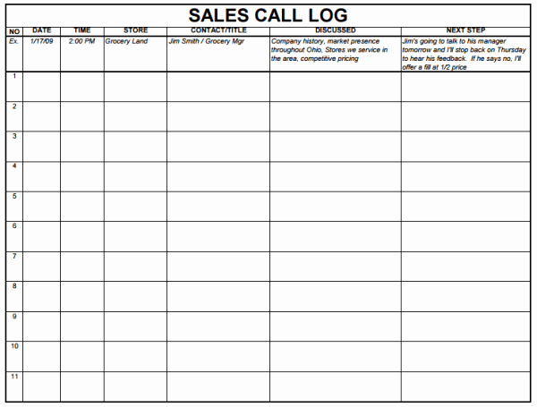 Sales Lead form Template Word Best Of 5 Sales Log Templates formats Examples In Word Excel