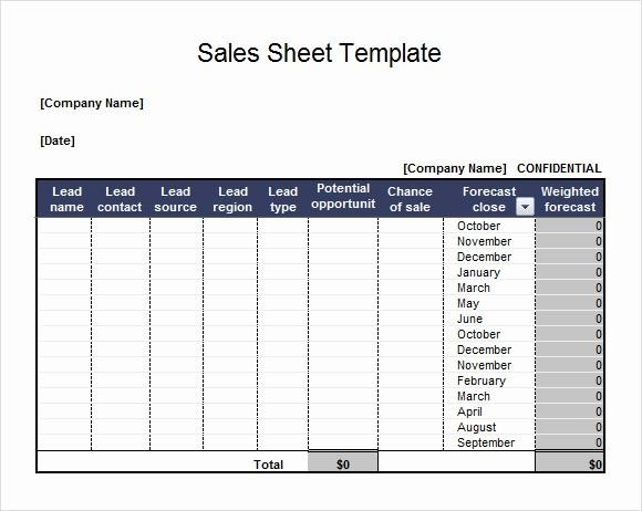 Sales Lead form Template Word Fresh 7 Sales Sheet Samples
