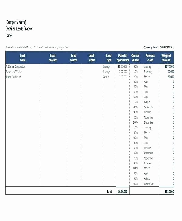 Sales Lead Management Excel Template New Template Sales Call Log Template Excel Tracking Lead