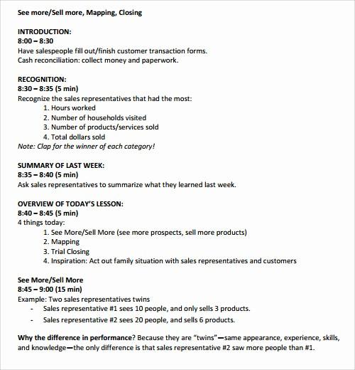 Sales Meeting Agenda Template Word Best Of Sample Agenda Template 27 Download Free Documents In