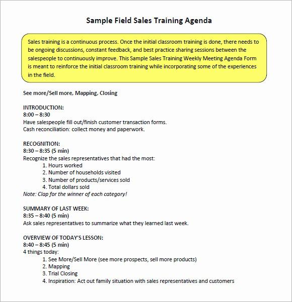 Sales Meeting Agenda Template Word Inspirational 16 Sales Meeting Agenda Templates