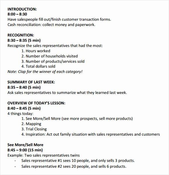 Sales Meeting Agenda Template Word Unique 8 Sales Meeting Agenda Templates to Free Download