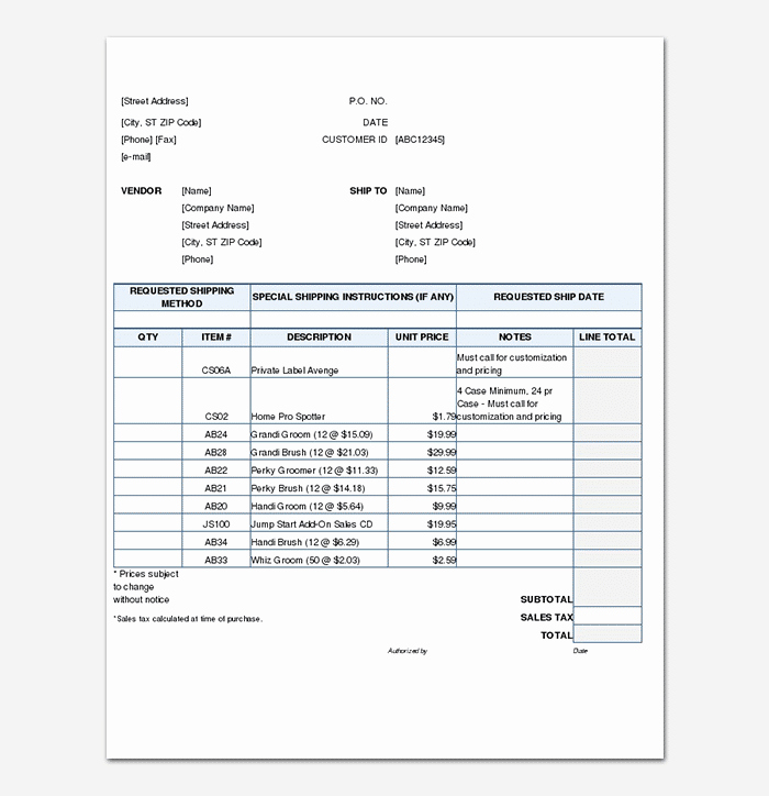 Sales order form Template Free Beautiful Sales order Template 22 formats & Examples Word Excel
