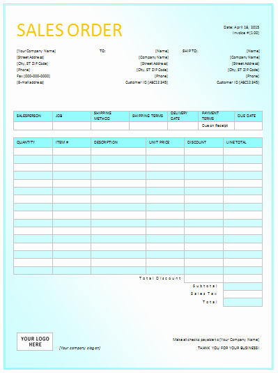 Sales order form Template Free Beautiful Sales order Template In Dotx Pdf Xltx Xlsx formats
