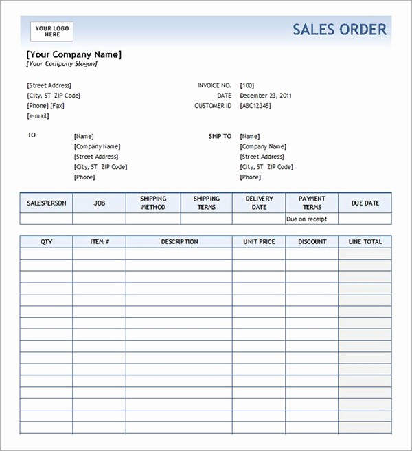 Sales order form Template Free New order form Template 19 Download Free Documents In Pdf