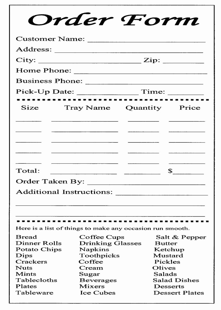 Sales order forms Templates Free Fresh Cake Ball order form Templates Free
