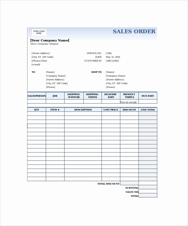 Sales order forms Templates Free Inspirational 23 order form Templates – Pdf Word Excel