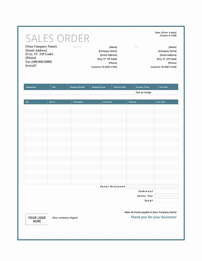 Sales order forms Templates Free Inspirational Sales order Template Free Download Edit Fill Create