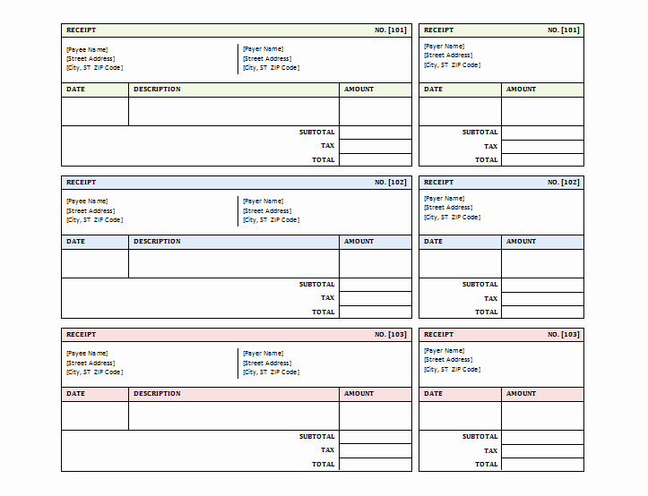 Sales Receipt Template Microsoft Word Awesome 12 Free Sales Receipt Templates Word Excel Pdf