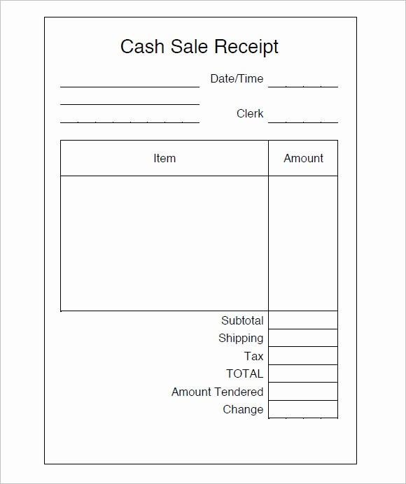 Sales Receipt Template Microsoft Word Beautiful 9 Sales Receipt Templates – Free Samples Examples