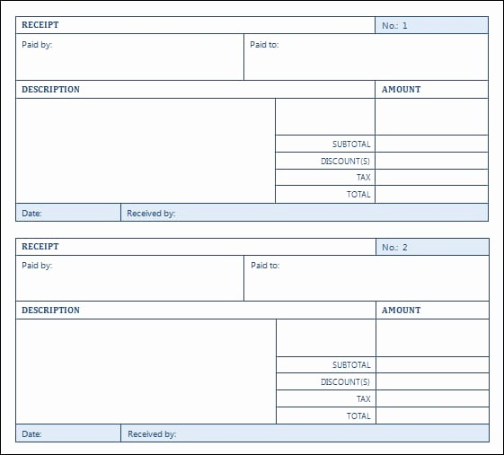 Sales Receipt Template Microsoft Word Beautiful top 5 Layouts for Sales Receipt Templates Word Templates