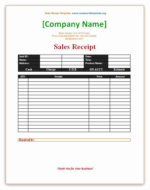 Sales Receipt Template Microsoft Word Best Of Microsoft Fice Restaurant Receipt