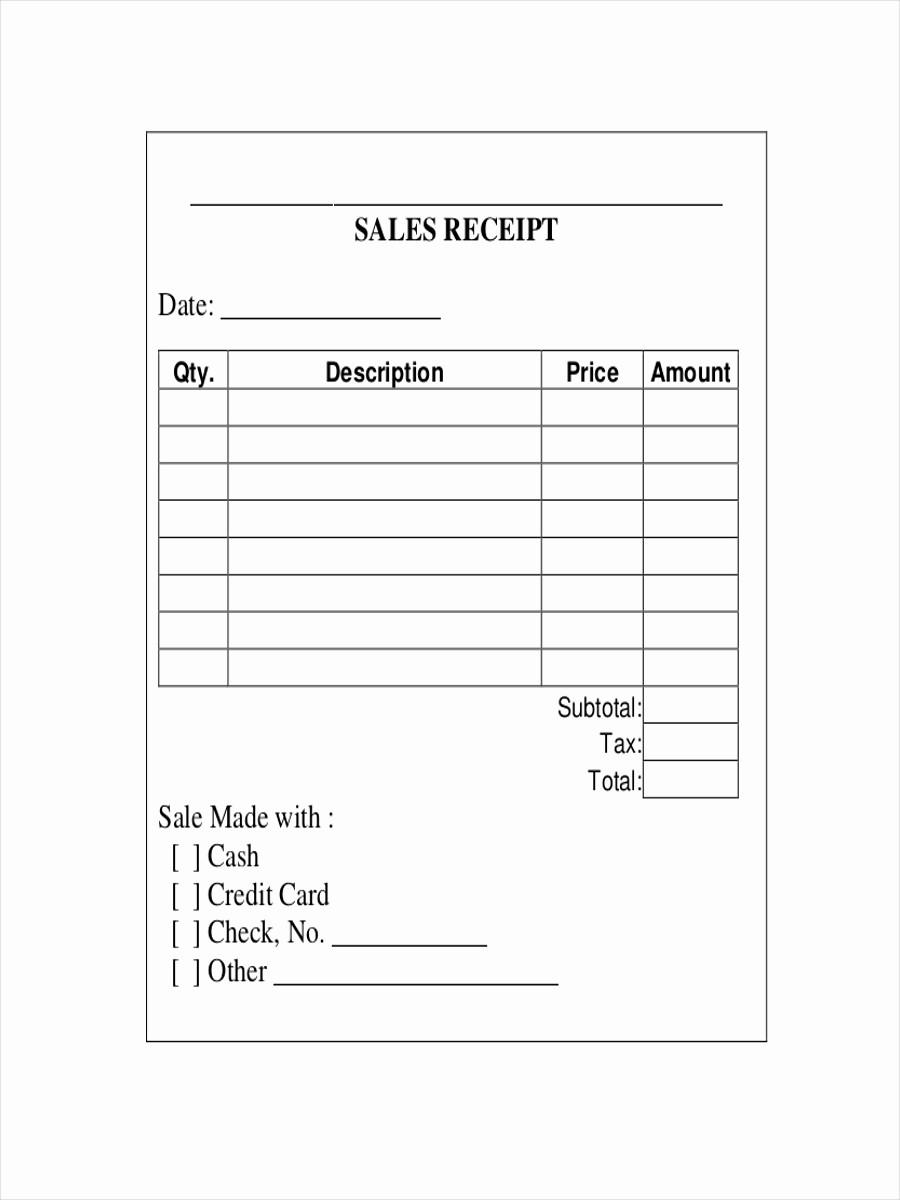 Sales Receipt Template Microsoft Word Fresh 10 Sales Receipt Examples & Samples Pdf Word Pages